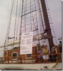 Tall ship Mystic in Salisbury