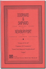 Dooryard & Shipyard Four Walking Tours of Newburyport