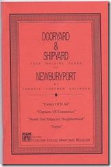 Dooryard & Shipyard Four Walking Tours of Newburyport