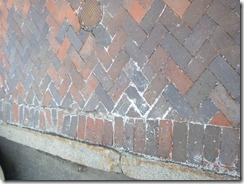 Bricks damaged by salt